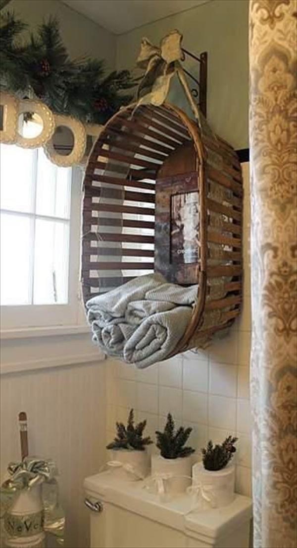 Cool DIY towel storage ideas