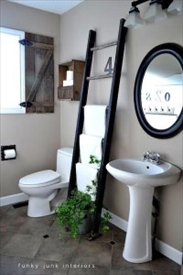 Wonderful bathroom towel storage idea
