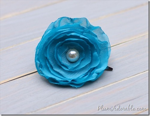 How to make fabric flower at home
