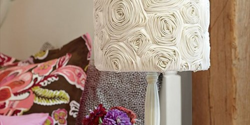 Easy DIY project Pretty Girlish Rosette lampshade