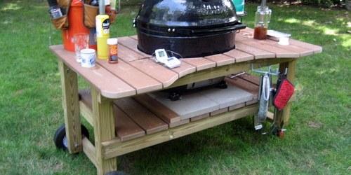 DIY outdoor grill table ideas