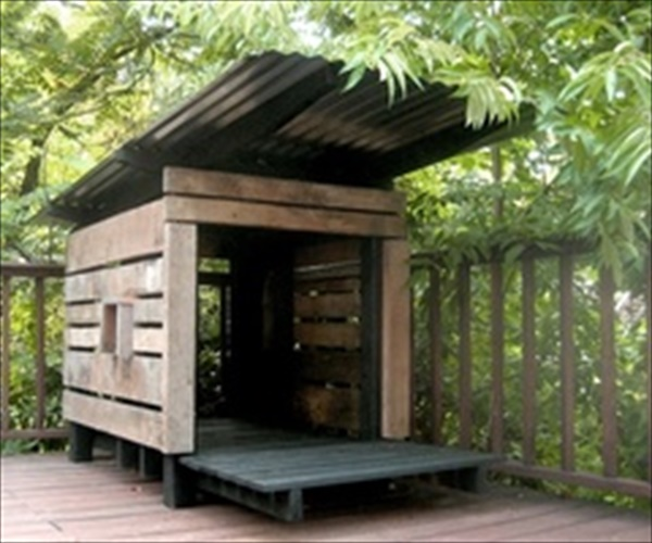dog pallet house ideas made from pallet wood