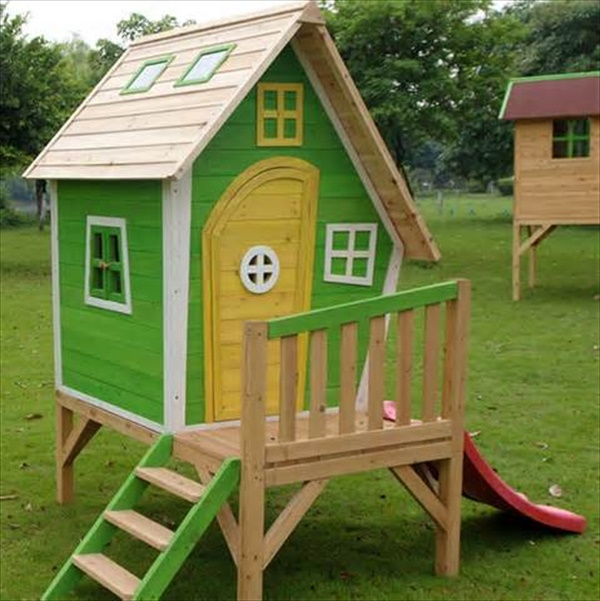 DIY pallet wood house designs