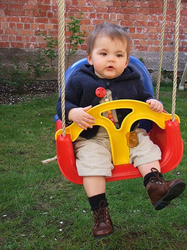 Outside baby swing ideas