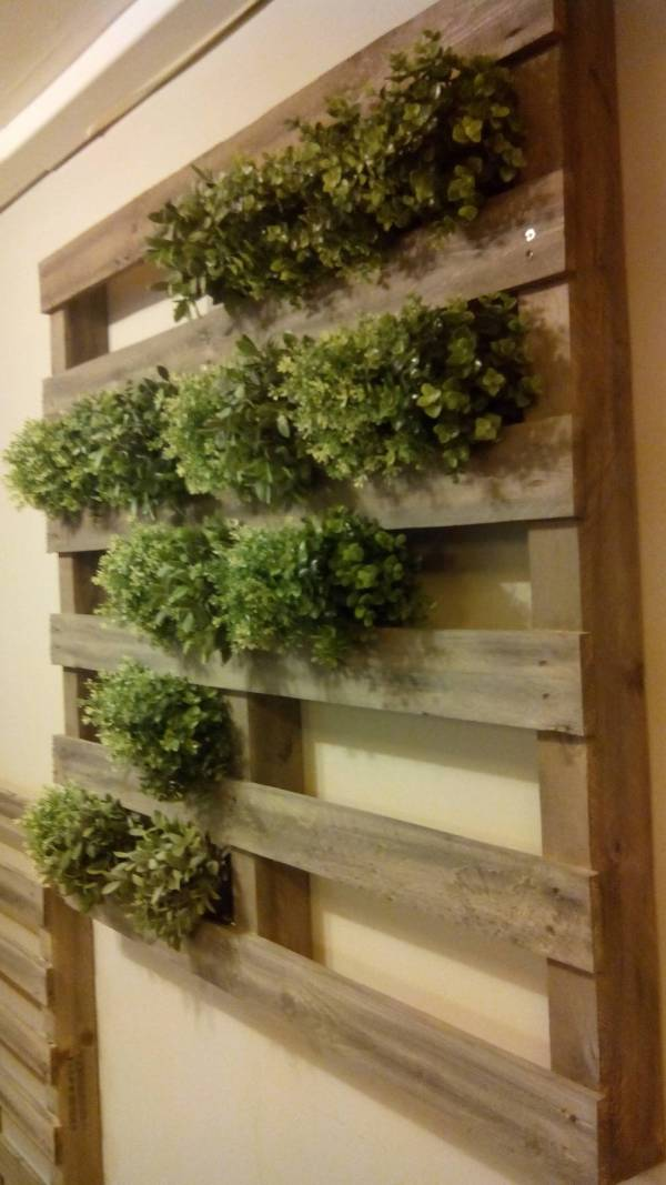 Unique pallet garden ideas