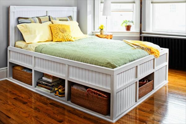 DIY Bed with Storage Space underneath