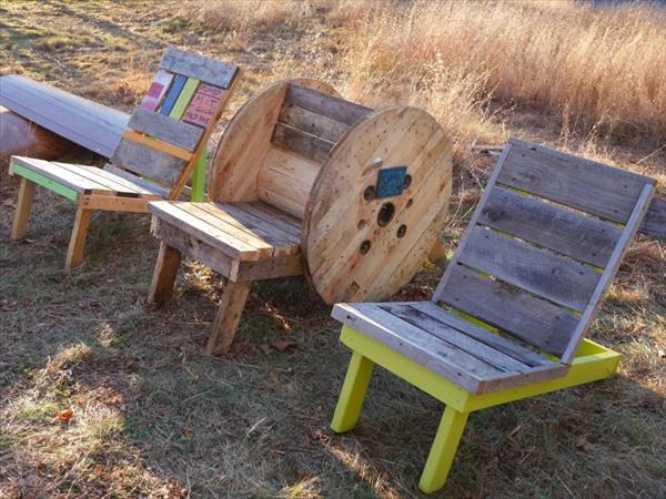 DIY wooden pallet furniture