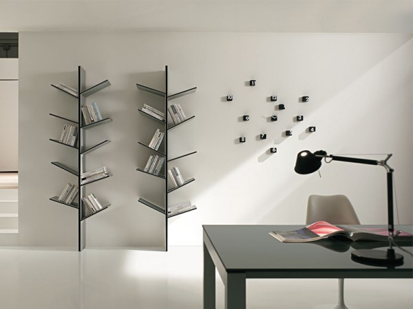 DIY modern bookshelves