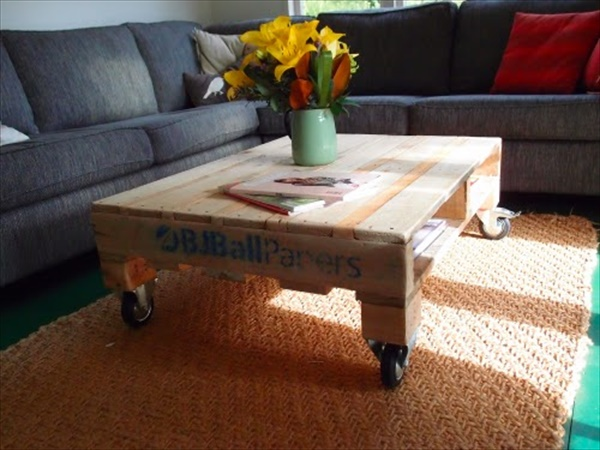 How to make pallet coffee table