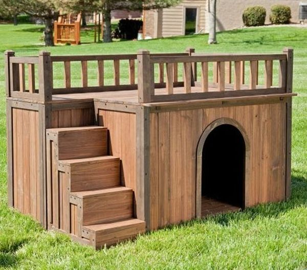 Stylish pallet dog house