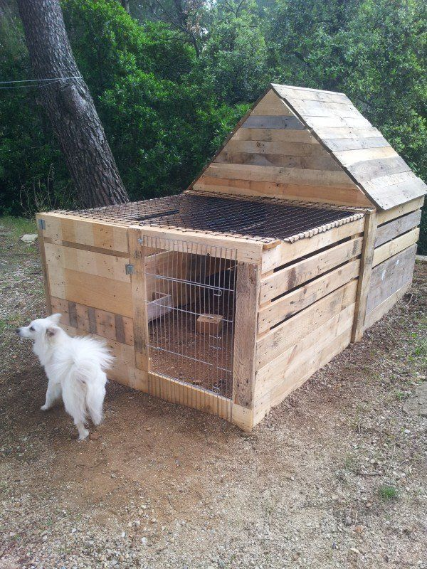 Diy Easy Pallet Pet Animal House Easy Diy And Crafts