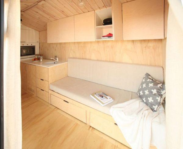 DIY wooden tiny home