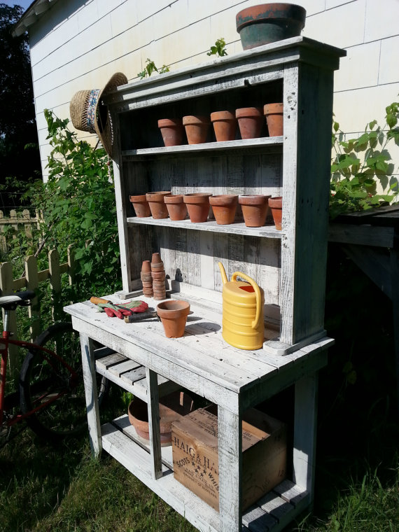 Diy Barn Wood Potting Bench Easy Diy And Crafts