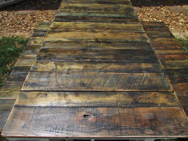 homemade beauteous picnic table