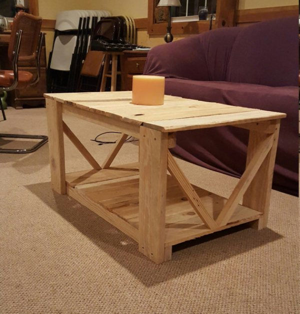 Do it yourself pallet coffee table