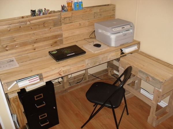Do it yourself pallet desk