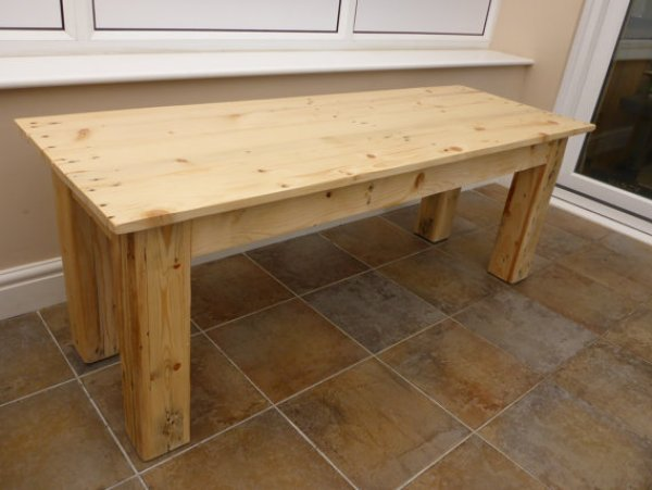 DIY coffee table from upcycled pallets