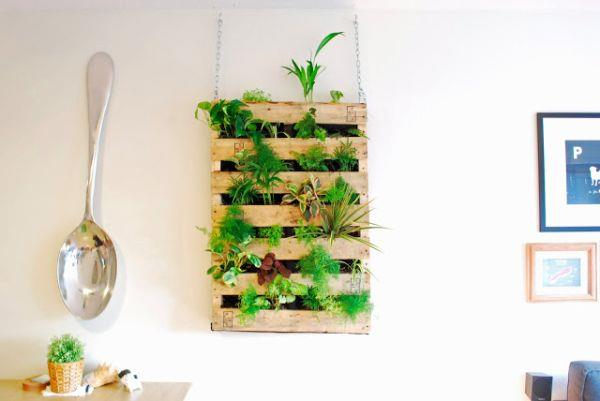 low cost pallet planters