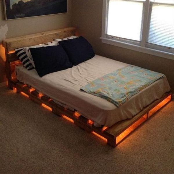 build your own pallet bed