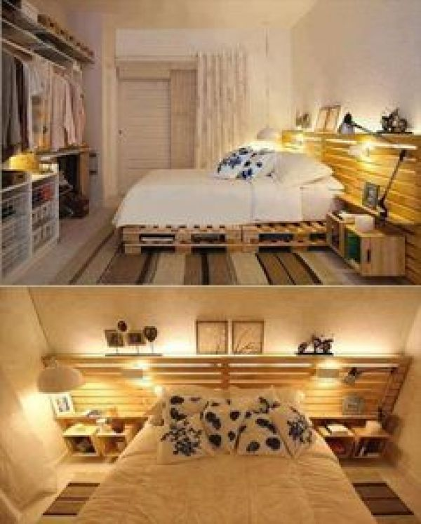 bed made from shipping pallet