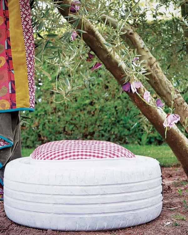 DIY Tire with pillow