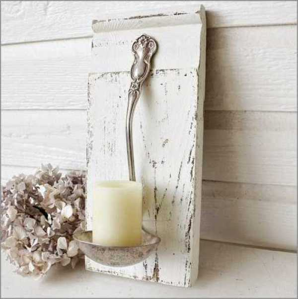 DIY White Candle