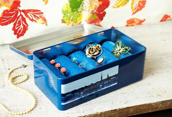 DIY Blue Jewerly Box