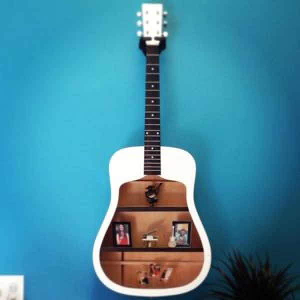 do it yourself modern guitar shelves