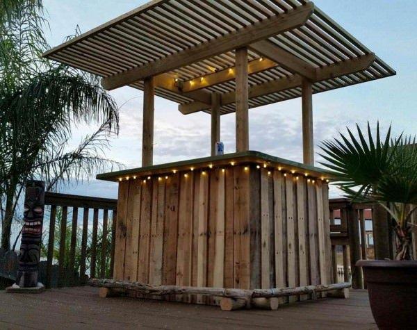 DIY Wooden Pallet Bar instructions