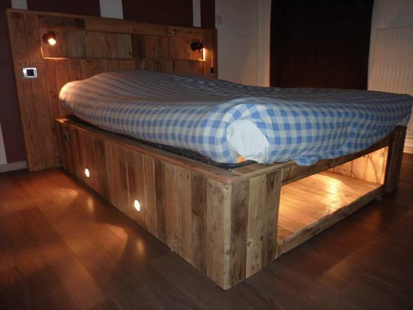 DIY Bed Pallet Ideas
