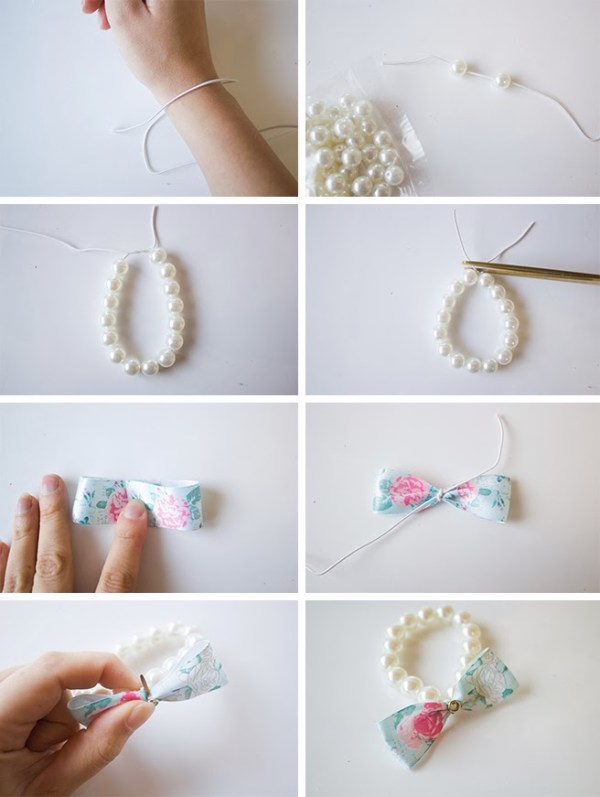 DIY Pearls with Bow