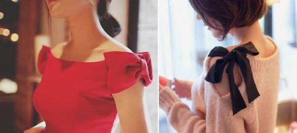DIY Red Dress Bow