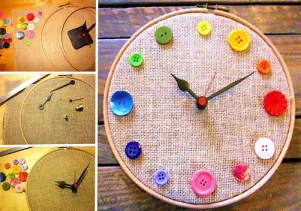 DIY Button Clock