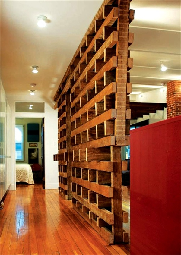 easy wood pallets room divider