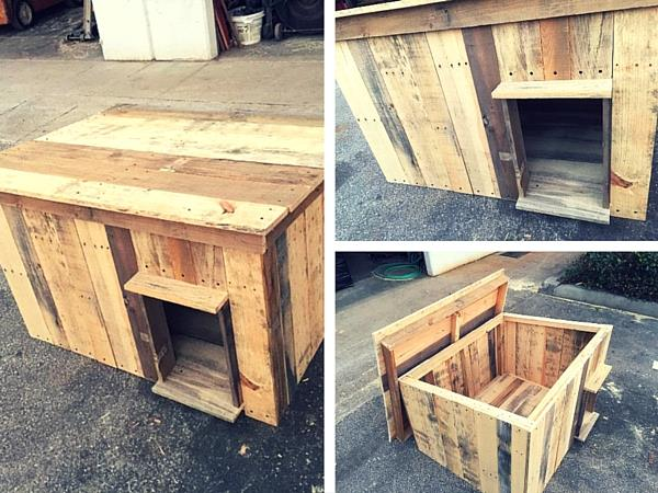 pallet dog out of wooden pallets