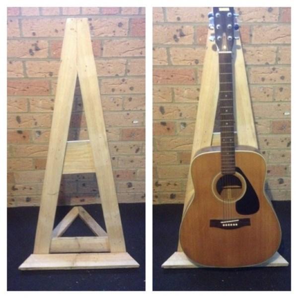 homemade pallet guitar stand