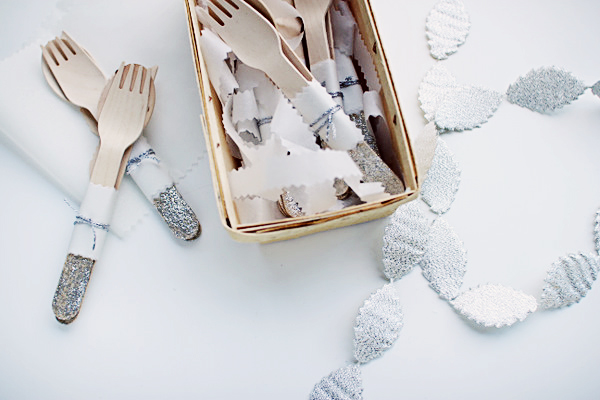DIY Glitter Fork Project