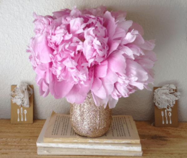 DIY Glitter Flower Ideas