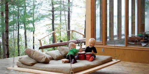 Modern Wooden Swing