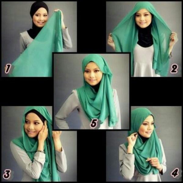 DIY Green Hijab