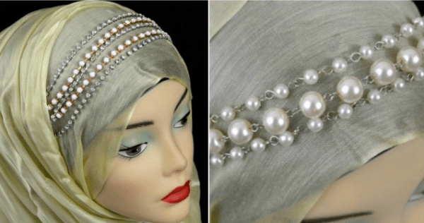 DIY Hijab with Pearls