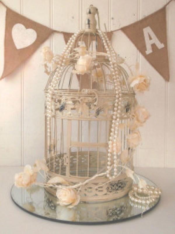 DIY Pearl Cage Decoration