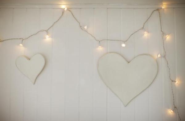DIY Hanging Hearts