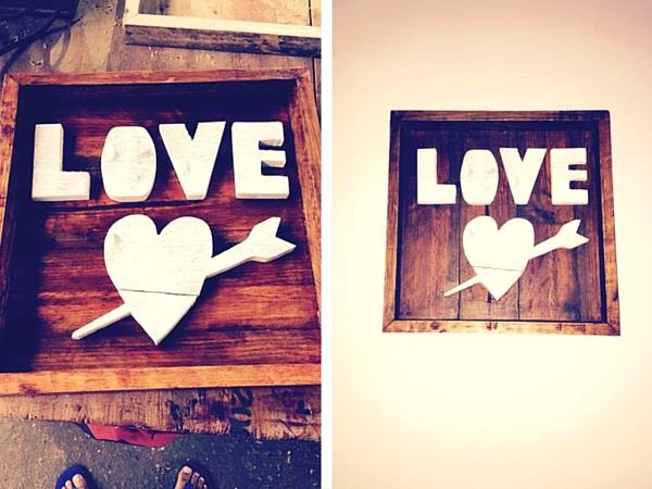 DIY Rustic Pallet signs