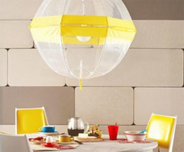 DIY Transparent Yellow Umbrella Light