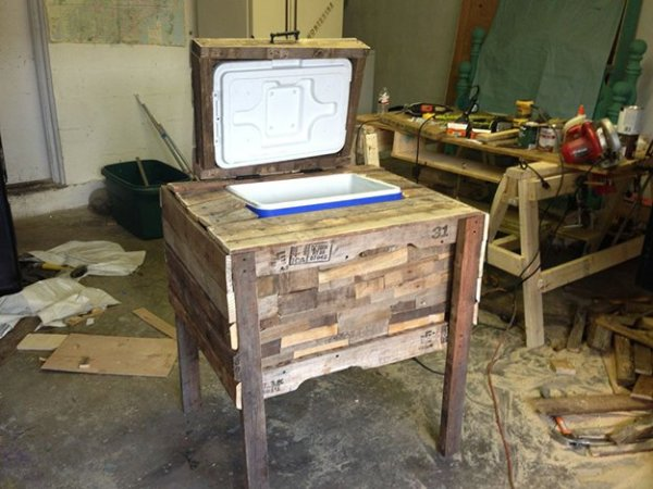 DIY Wood Table Freezer