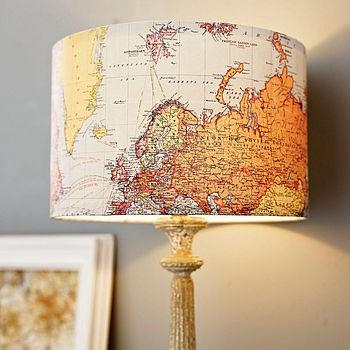 DIY Lamp Map Art