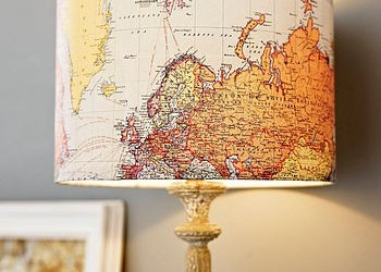 DIY Lamp Map Art