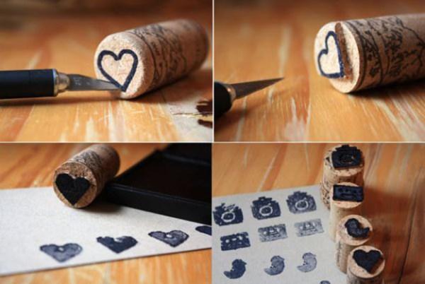 DIY Heart Cork Ideas