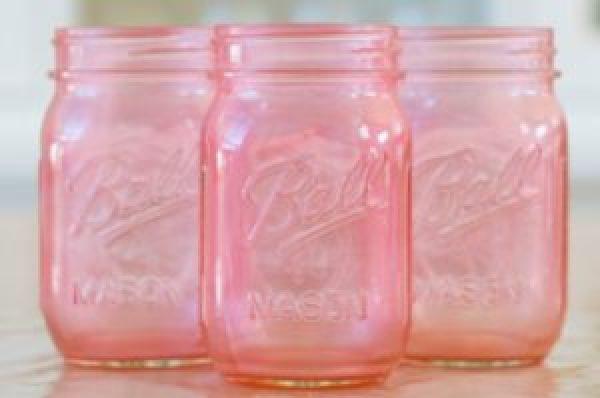 DIY Pink Jar